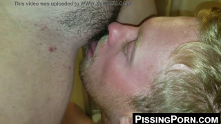 Drinking Piss Out Of Her Hairy Pussy