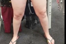 Chubby Girl Pisses In Department Store Right On The Floor